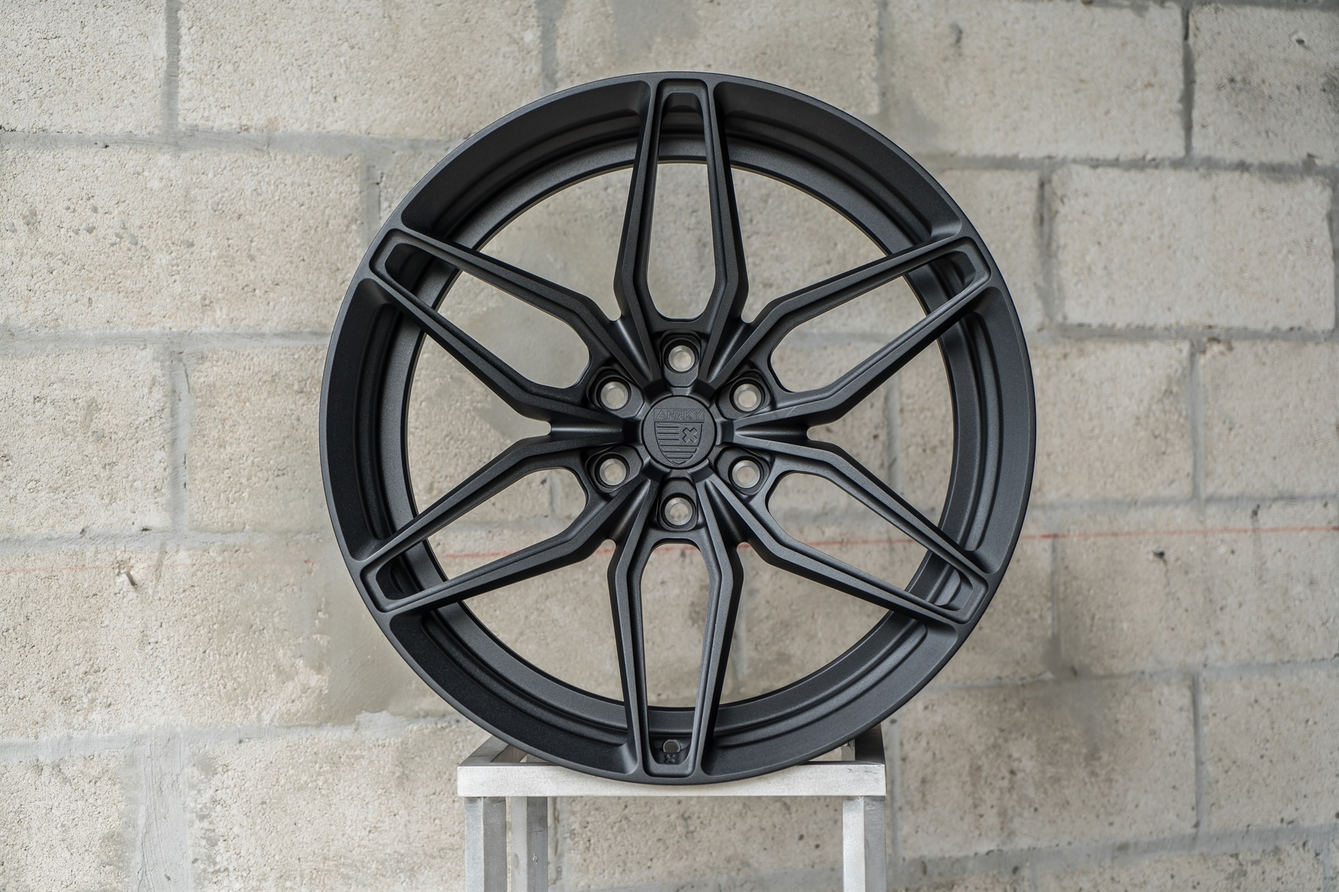 textured satin black anrky wheels