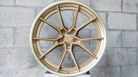 AN32 – Satin Gold Center / Brushed Gold Outer